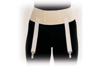 (Small) - Truform Garter Belt 7.6cm Waist Band, Beige