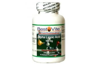 Alpha Lipoic Acid 100mg (240 Capsules)