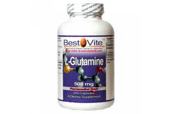 L-Glutamine 500mg Free Form (240 Capsules)