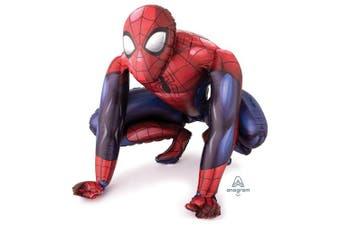 (1, Original Packaging) - Spiderman Airwalker Life Size Foil Helium Birthday Party XL Balloon