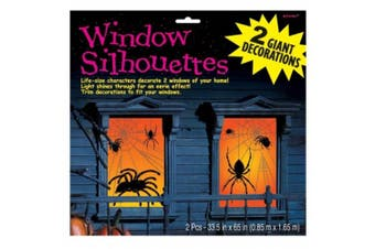 Amscan International Window Silhouette Spider