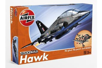 (BAe Hawk) - Airfix Quick Build BAe Hawk Aircraft Model Kit (Black)