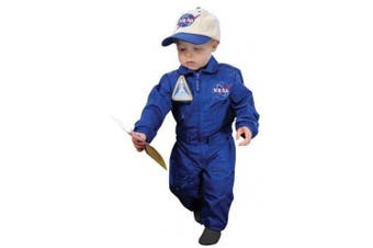 (18 Months, Blue) - Aeromax Jr. NASA Flight Suit, Blue, with Embroidered Cap and official looking patches, size . .