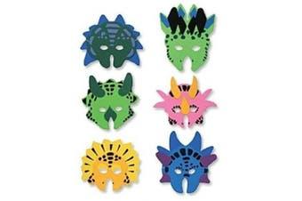 12 Foam Dinosaur Animal Masks - Fancy Dress party