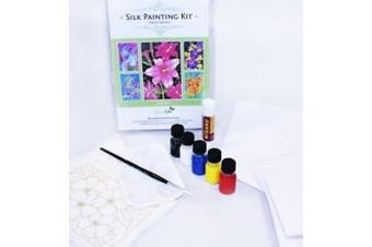 Silkcraft Silk Painting: Cardmaking Kit - Makes 5 Lovely Cards - Lily Kit