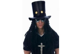 80s Slash Guitar Hero Fancy Dress Hat and Wig