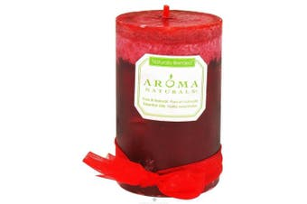 (Orange, Clove and Cinnamon, ct) - Aroma Naturals Peace Ruby Holiday Candle 2.5 X 4