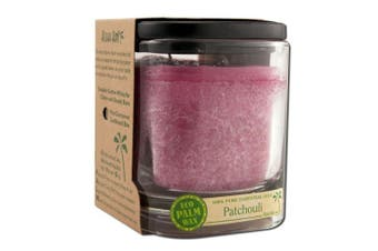 Aloha Bay Palm Wax Candles Ecopalm Square Jar Patchouli Rose 240ml