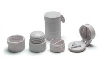 Pill Crusher/Splitter with Cup and Storage Compartment