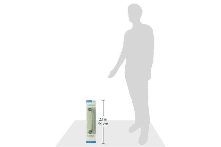 (46cm ) - DMI - Textured Shower Handle Shower Assist Handle - Grab Bar for Bathroom Shower - Shower Grab Bar for Handicap and Elderly, For Bathtub and Shower Safety, Rust-Resistant Steel, 46cm , Silver