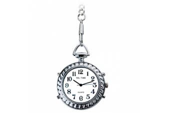 Tel Time Low Vision Talking Chrome Pocket Watch