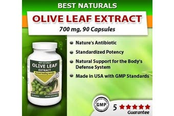 (90 Caps) - Best Naturals Olive Leaf Extract, 700 Mg, 90 Capsules