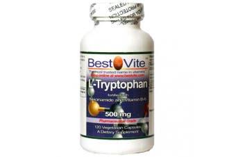 L-Tryptophan w/ B3 & B6 500mg (120 Vegetarian Capsules)