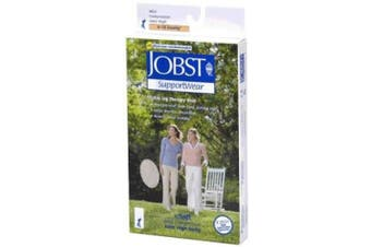 (Large, White) - Jobst soSoft Women Brocade Knee Highs 8-15mmHg, S, Black