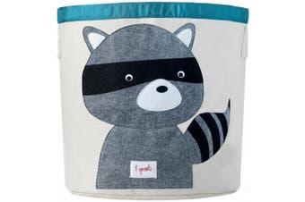 (raccoon) - 3 Sprouts Storage Bin - Raccoon