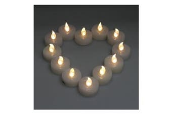 (Warm White) - AGPtek® 24 PCS LED Tealights Battery-Operated flameless Candles Lights For Wedding Birthday Party - Warm White