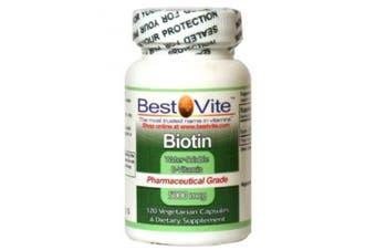 Biotin 5000mcg (120 Vegetarian Capsules)