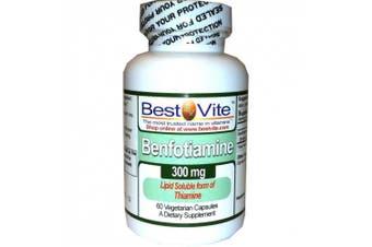(60 Vegetarian Capsules) - Benfotiamine 300mg (60 Vegetarian Capsules) No Stearates - No Silicon Dioxide