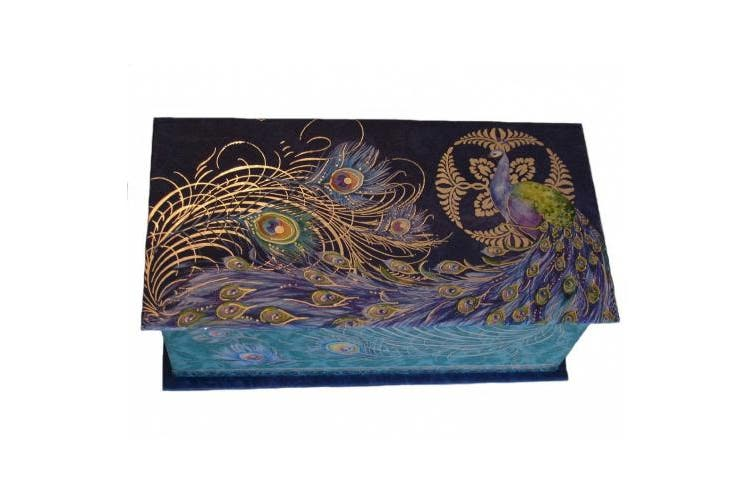 Punch Studio Scented Soap in Paisley Peacock Rectangular Music Box