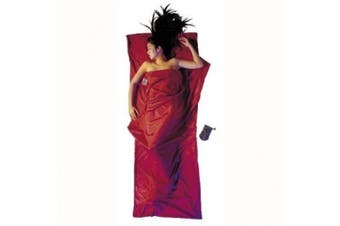 (220cm  x 90cm , Monk's Red) - Cocoon TravelSheet silk/cotton red inlet