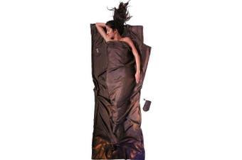 (220cm  x 90cm , Muddy Eleph) - Cocoon TravelSheet silk brown inlet
