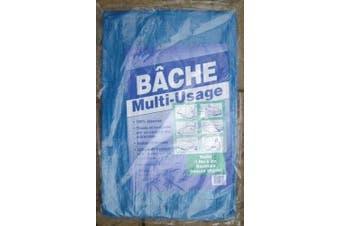 Tough Blue Tarpaulin Ground Sheet 1.9m x 3m x 85gsm