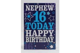 Nephew 16 today Happy Birthday Card - 16th Birthday
