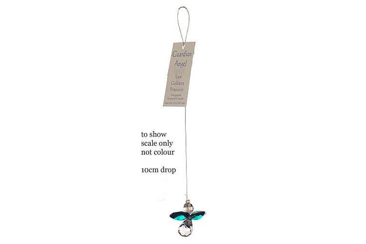 (NOVEMBER - TOPAZ) - . Hanging Crystal Guardian Angel Birthstone Suncatcher NOVEMBER - TOPAZ