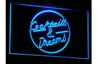 ADV PRO i079-b Cocktails & Dream Beer Bar Wine Neon Light Sign
