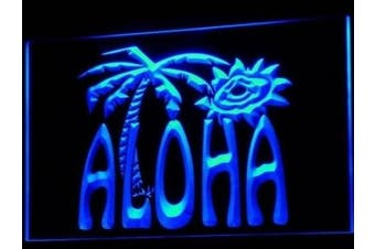 ADV PRO i699-b Aloha Palm Tree Enseigne Lumineuse Light Sign