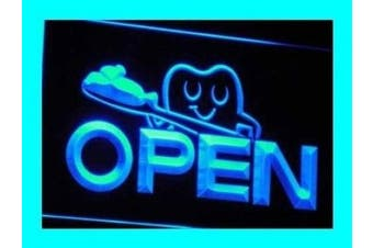 ADV PRO i010-b OPEN Dentist Doctor toothbrush Neon Light Sign