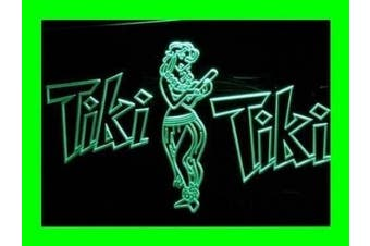 ADV PRO i224-g OPEN Tiki Bar Wajome Hula Dancer Neon Light Sign