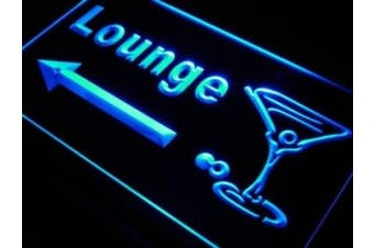 ADV PRO j684-b Lounge Cocktails Glass Arrow Bar Neon Light Sign