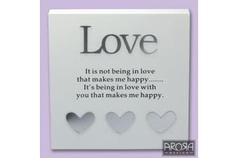 The Art of Arora Sentiment Wall Art Love Block