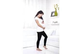 Ladies Womens Black Adjustable Maternity Leggings leggins for growing bumps size 8-12