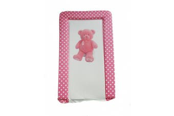 Girls Deluxe PVC Change/Changing Mat - CUTE CERISE PINK BABY TEDDY BEAR