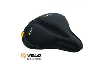 (Black) - Velo 137657 Anatomic Gel Saddle Cover - Black
