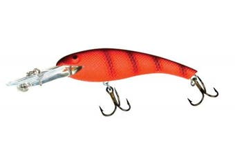 (6.4cm , Fluorescent Red/Black) - Cotton Cordell Wally Diver Lures