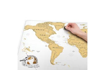 (Original) - Scratch Map Original Scratch off Map, Personalised World Travel Map Poster with countries, states, cities