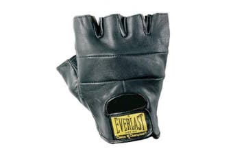 (Large) - Everlast All Competition Leather Gloves