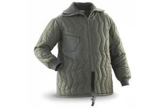 (XL) - OLIVE GERMAN PARKA LINER, BANG ON TREND COAT OR GREAT JACKET LINER