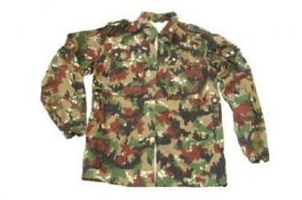 (Large) - Swiss Army Alpenflage Fatigue Jacket/Heavy Shirt