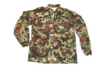 (Medium) - Swiss Army Alpenflage Fatigue Jacket/Heavy Shirt