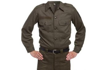 (Large) - Austrian Army Issue Vintage Mens Field Shirt