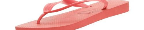 (39-40 EU, Ruby Red) - Havaianas Unisex Top Flip Flops Size: 39-40 EUColour: Ruby Red These Havaianas flip flops have the following features: The Havaianas Flip Flops Top are trendy light white flip flops for kids. Rubber foot sole with a rice grain pattern Rubber foot strap The text 'Havaianas' on the foot strap These flip flops are very comfortable. They are anti-slip and quickdry. Havaianas The brand Havaianas is founded is 1962. The design of the flip flops are inspired by the Zori, Japanese sandals. The rice grain pattern on those sandals are still used on the foot sole of the Havaianas. Flip flops have become part of the modern day culture. Tags: flip flops, flipflops.