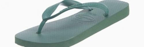 (7-8 UK, Amazonia) - Havaianas Unisex Top Flip Flops Size: 7-8 UKColour: Amazonia These Havaianas flip flops have the following features: The Havaianas Flip Flops Top are trendy light white flip flops for kids. Rubber foot sole with a rice grain pattern Rubber foot strap The text 'Havaianas' on the foot strap These flip flops are very comfortable. They are anti-slip and quickdry. Havaianas The brand Havaianas is founded is 1962. The design of the flip flops are inspired by the Zori, Japanese sandals. The rice grain pattern on those sandals are still used on the foot sole of the Havaianas. Flip flops have become part of the modern day culture. Tags: flip flops, flipflops.