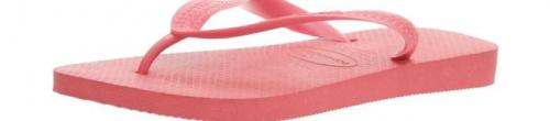 (41-42 EU, Ruby Red) - Havaianas Unisex Top Flip Flops Size: 41-42 EUColour: Ruby Red These Havaianas flip flops have the following features: The Havaianas Flip Flops Top are trendy light white flip flops for kids. Rubber foot sole with a rice grain pattern Rubber foot strap The text 'Havaianas' on the foot strap These flip flops are very comfortable. They are anti-slip and quickdry. Havaianas The brand Havaianas is founded is 1962. The design of the flip flops are inspired by the Zori, Japanese sandals. The rice grain pattern on those sandals are still used on the foot sole of the Havaianas. Flip flops have become part of the modern day culture. Tags: flip flops, flipflops.