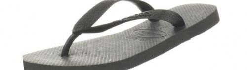 (5-6 UK, Black) - Havaianas Unisex Top Flip Flops Size: 5-6 UKColour: Black These Havaianas flip flops have the following features: The Havaianas Flip Flops Top are trendy light white flip flops for kids. Rubber foot sole with a rice grain pattern Rubber foot strap The text 'Havaianas' on the foot strap These flip flops are very comfortable. They are anti-slip and quickdry. Havaianas The brand Havaianas is founded is 1962. The design of the flip flops are inspired by the Zori, Japanese sandals. The rice grain pattern on those sandals are still used on the foot sole of the Havaianas. Flip flops have become part of the modern day culture. Tags: flip flops, flipflops.