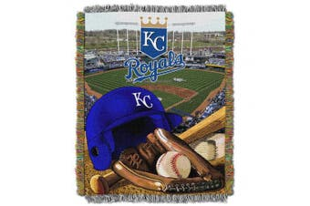 (Kansas City Royals) - The Northwest Company Officially Licenced MLB Home Field Advantage Woven Tapestry Throw Blanket, Soft & Cosy, Washable, Throws & Bedding, 120cm x 150cm