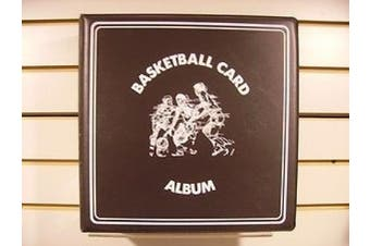 Basketball Trading Card Collectors Album with Page sleeves, 7.6cm Spine